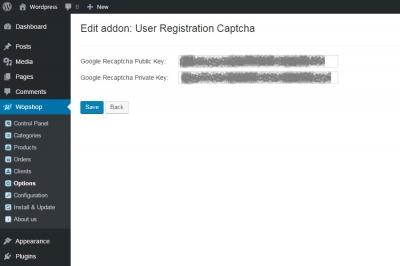 User registration captcha