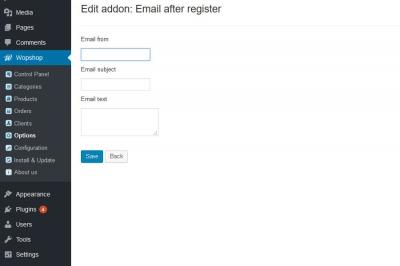 Email after register