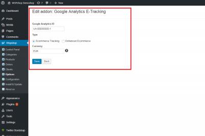Google Analytics E-Tracking